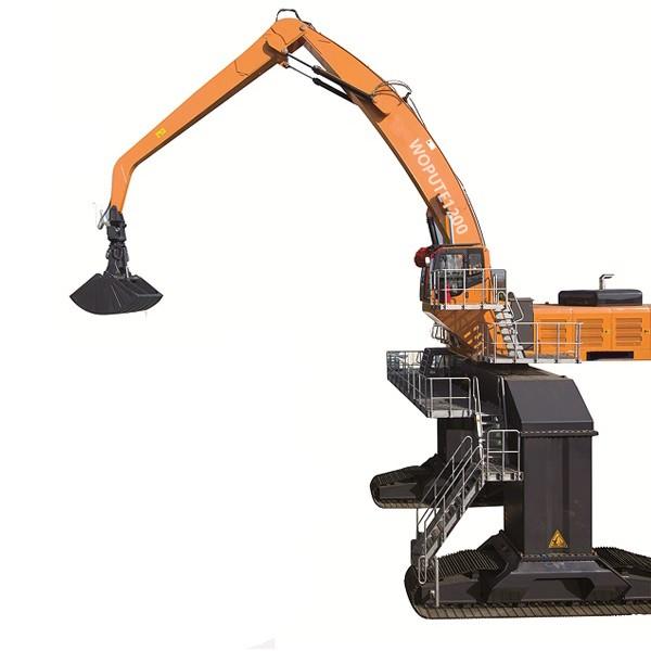 WPTSLZ1200履带式双动力液压抓料机